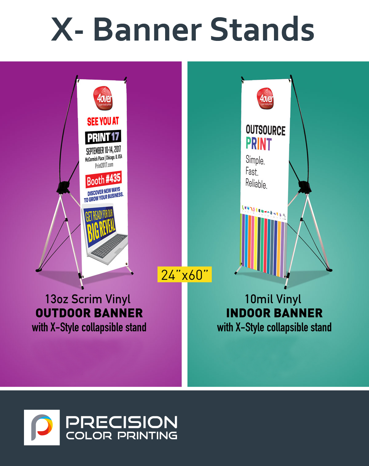 X-Frame Banner – Precision Color Printing